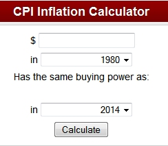 U S  Inflation Rate Calculator- plus Several Other Inflation Calculators