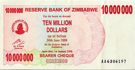 Zimbabwean Hyperinflation Officially Estimated At 2.2 Million Percent